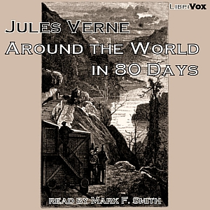 Around the World in Eighty Days (version 2)(1989) by Jules Verne audiobook cover art image on Bookamo