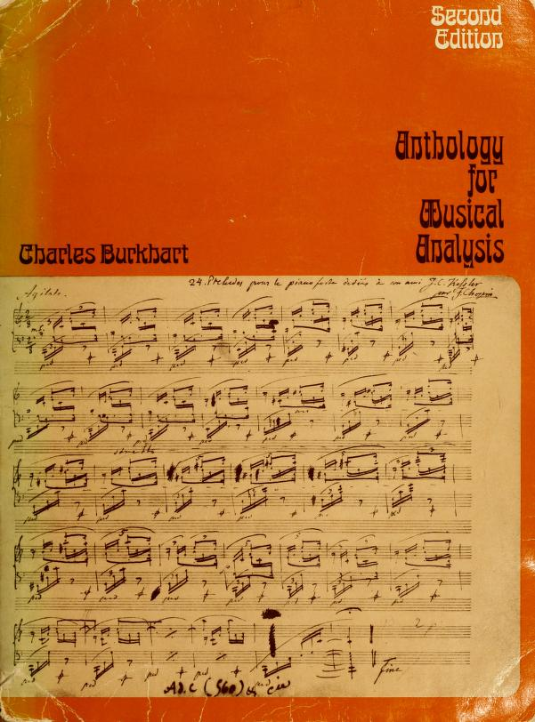 Anthology for Musical Analysis Edition by Charles Burkhart