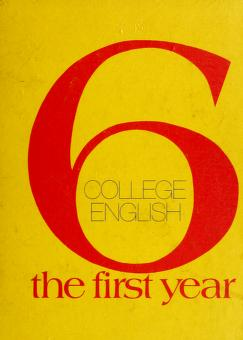 Cover of: College English: the first year | Alton Chester Morris