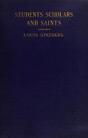 Cover of: Students, scholars and saints | Louis Ginzberg